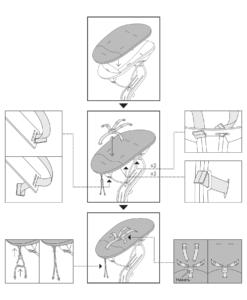 Установка матрасика и ремней безопасности на кресло-шезлонг Nomi Baby