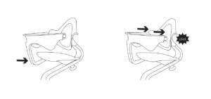 Устновка фиксатора Nomi Mini на детский стул Evomove Nomi